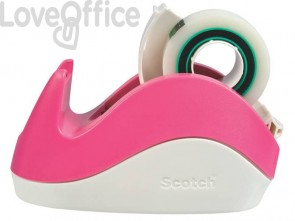 Dispenser per nastro adesivo Scotch® Rabbit rosa C29