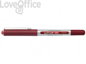 Penna gel con cappuccio rossa Uni-Ball Eye Micro - 0,5 mm