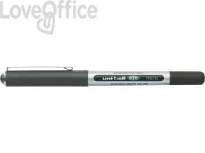 Penna gel con cappuccio nera Uni-Ball Eye Micro - 0,5 mm