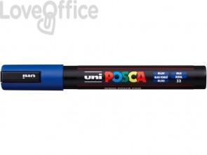 Marcatore a tempera POSCA Uni-Ball punta tonda 1,8-2,5 mm blu M PC5M B