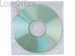 Tasca per CD/DVD Q-Connect polipropilene 120my senza foratura - KF02207 (conf. da 50 pezzi)