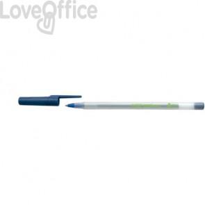 Penne ecologiche con cappuccio BIC Round Stic ECOlutions 1 mm blu Conf. 60 pezzi - 8932402