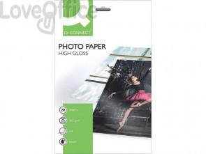 Carta fotografica Inkjet Q-Connect A4 bianco 260 g/m² lucida - KF02163 (conf. da 20 fogli)