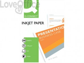 Carta fotografica Inkjet Q-Connect A4 bianco 100 g/m² lucida - KF01553 (conf. 200 fogli)