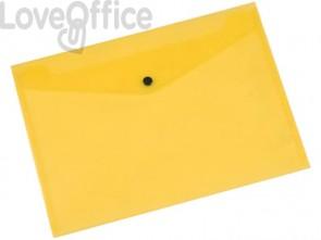 Portadocumenti con bottone Q-Connect A4+ giallo KF03595 (conf.12)