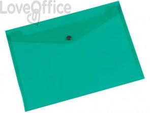 Portadocumenti con bottone Q-Connect A4+ verde KF03597 (conf.12)