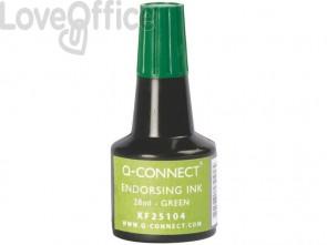 Inchiostro per timbri Q-Connect senza olio 28 ml verde KF25104 (conf.3)
