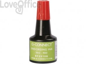 Inchiostro per timbri Q-Connect senza olio 28 ml rosso KF25108 (conf.3)