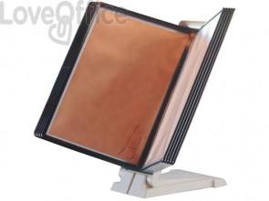 Leggìo da tavolo o da parete Q-Connect Quickfind 10 pannelli A4 grigio KF06002
