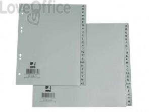 Divisori alfabetici Q-Connect A-Z metà altezza 23x21 cm grigio 24 pagine KF01808
