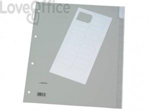 Divisore personalizzabile Q-Connect grigio 24,5x29,7 cm ppl 12 pagine KF01854