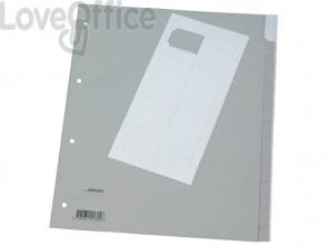 Divisore neutro Q-Connect grigio XL 24x29,7 cm ppl 15 fogli KF01855