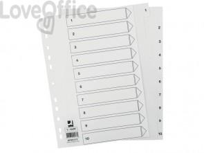 Divisore numerico Q-Connect bianco 22,5x29,7 cm ppl 1-10 KF00177