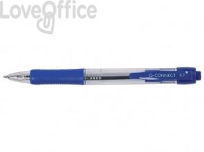 Penne a sfera a pulsante Q-Connect M blu (conf. da 10)