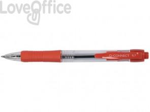 Penne a sfera a pulsante Q-Connect M rosso (conf. da 10)