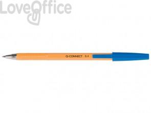 Penne a sfera Q-Connect F blu (conf. da 20)