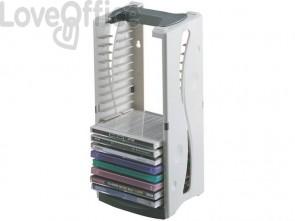 Torretta verticale Q-Connect capacità 25 CD bianco/grigio KF04512