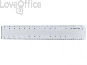 Righello Q-Connect trasparente 15 cm  KF00583
