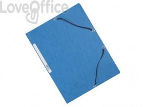 Cartelline a 3 lembi con elastico Q-Connect Blu 24,3x32 cm cartoncino manilla 375 g/m² (conf. da 10)