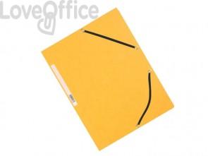 Cartelline a 3 lembi con elastico Q-Connect Gialle 32x24,3 cm cartoncino manilla 375 g/m² (conf. da 10)