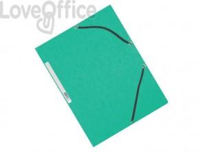 Cartelline a 3 lembi con elastico Q-Connect Verdi 24,3x32 cm cartoncino manilla 375 g/m² (conf. da 10)
