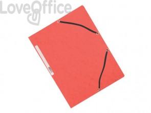 Cartelline a 3 lembi con elastico Q-Connect Rosse 24,3x32 cm cartoncino manilla 375 g/m² (conf. da 10)
