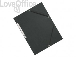 Cartelline a 3 lembi con elastico Q-Connect Grigie 24,3x32 cm cartoncino manilla 375 g/m² (conf. da 10)