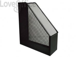 Portariviste in metallo Q-Connect 9,5x29,5x25,8 cm nero KF00862