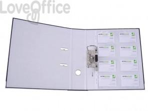 Busta porta biglietti da visita Q-Connect A4 uso fronte retro ppl 110 mμ trasparente (conf. 100)