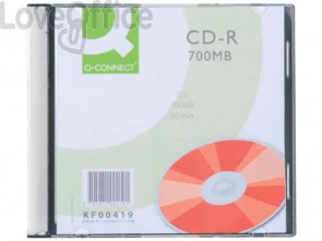 CD-R Q-Connect Slimline Jewel Case 700 MB 80 min 52X conf. da 10 pezzi - KF00419