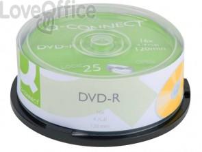 DVD-R Q-Connect Spindle 16x 120 min non stampabile conf.da 25 pezzi - KF00255