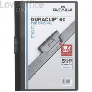 Cartelline con clip Durable nero  220901