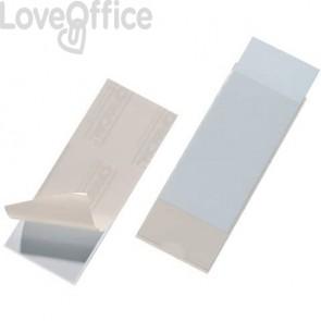 Portaetichette adesivi DURABLE POCKETFIX® 6,2x15,4 cm trasparente - 807519 (conf. 10 pezzi)