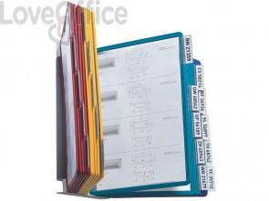 Leggio da parete DURABLE VARIO® WALL - 20 pannelli - A4 acciaio/polipropilene colori assortiti