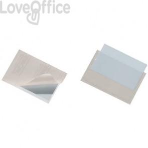 Portabiglietti da visita adesivi DURABLE POCKETFIX® 5,7x9 cm trasparente (conf. 10 pezzi)