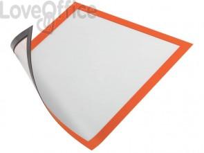 Cornici con pannello magnetico DURABLE DURAFRAME® MAGNETIC A4 PVC rigido arancio 236x323 mm - 486909 (conf. 5)