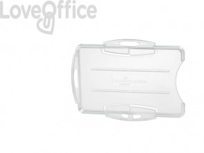 Portabadge DURABLE rigido fronte aperto polistirene trasparente 2 badge 54x87mm conf. 10 - 891919