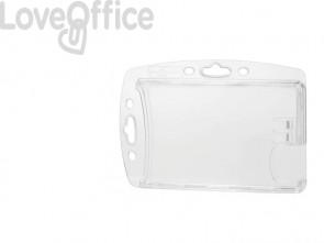 Portabadge DURABLE DUO acrilico trasparente per 2 tessere magnetiche e pass  conf. 10 -