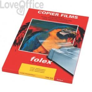 Film per stampanti monocromatiche Folex A4 - 100 my - Trasparente - Folex X-10.0 (conf.100)