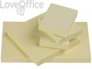 Foglietti riposizionabili Q-Connect 63 g/m² giallo 76x51mm 12 blocchetti da 100 ff - KF10501