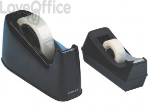 Dispenser per nastro da scrivania Q-Connect nero 25 mm x 33/66 m KF11010