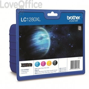 Originale Brother LC-1280XLVALBP Conf. 4 cartucce inkjet A.R. n+c+m+g