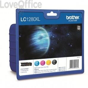 Cartucce originali Brother LC-1280XLVALBP inkjet A.R. n+c+m+g (conf. 4)