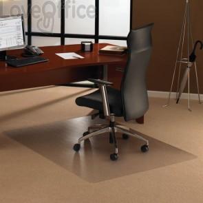 Tappeto Protettivo trasparente in policarbonato Floortex - per tappeti,moquette - 120x134x0,23cm