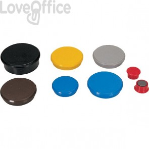 Magneti per lavagne Dahle - ø 24 mm - rosso - R955243 (conf.10)