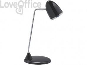Lampada da scrivania MAUL MAULstarlet metallo cromato nero E27 3 W 8231090