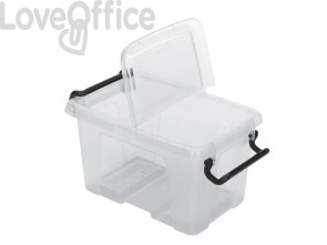 Contenitore con coperchio impilabile 1,7L Strata trasparente 2006800111