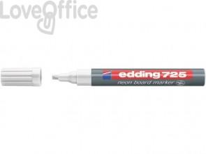 Pennarello Neon per lavagne edding 725 punta scalpello 2-5 mm bianco 4-725049
