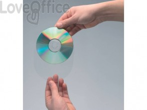 Custodia per CD/DVD Q-Connect 100 pezzi Q-Connect 12,6x12,6 cm trasparente conf. da 100 - KF27031