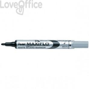 Pentel Pennarello per lavagna nero - Maxiflo - tonda - 4 mm